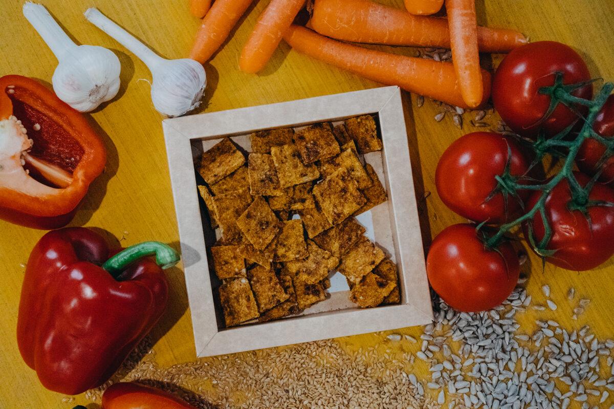 Burkānu un tomātu čipsi