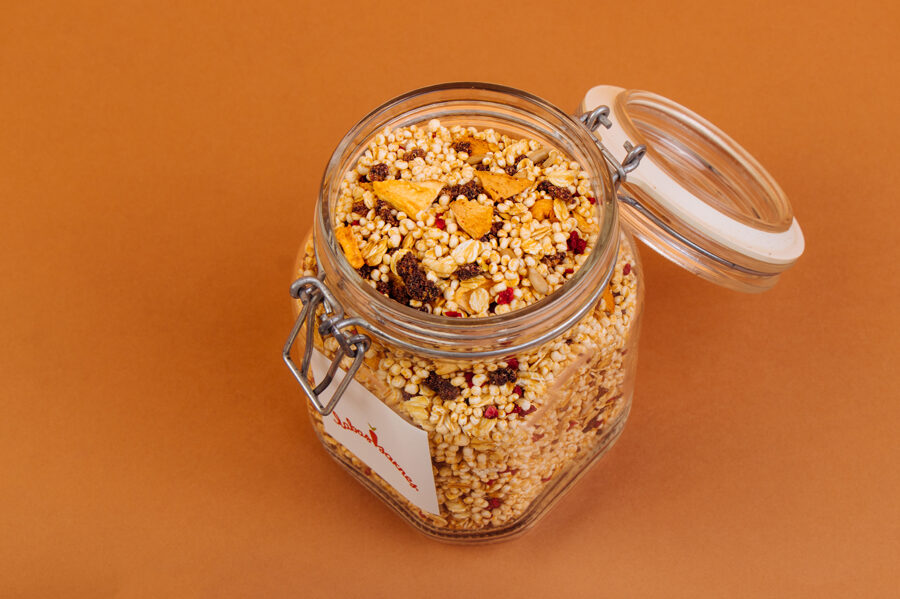 Glass jar for storing treats